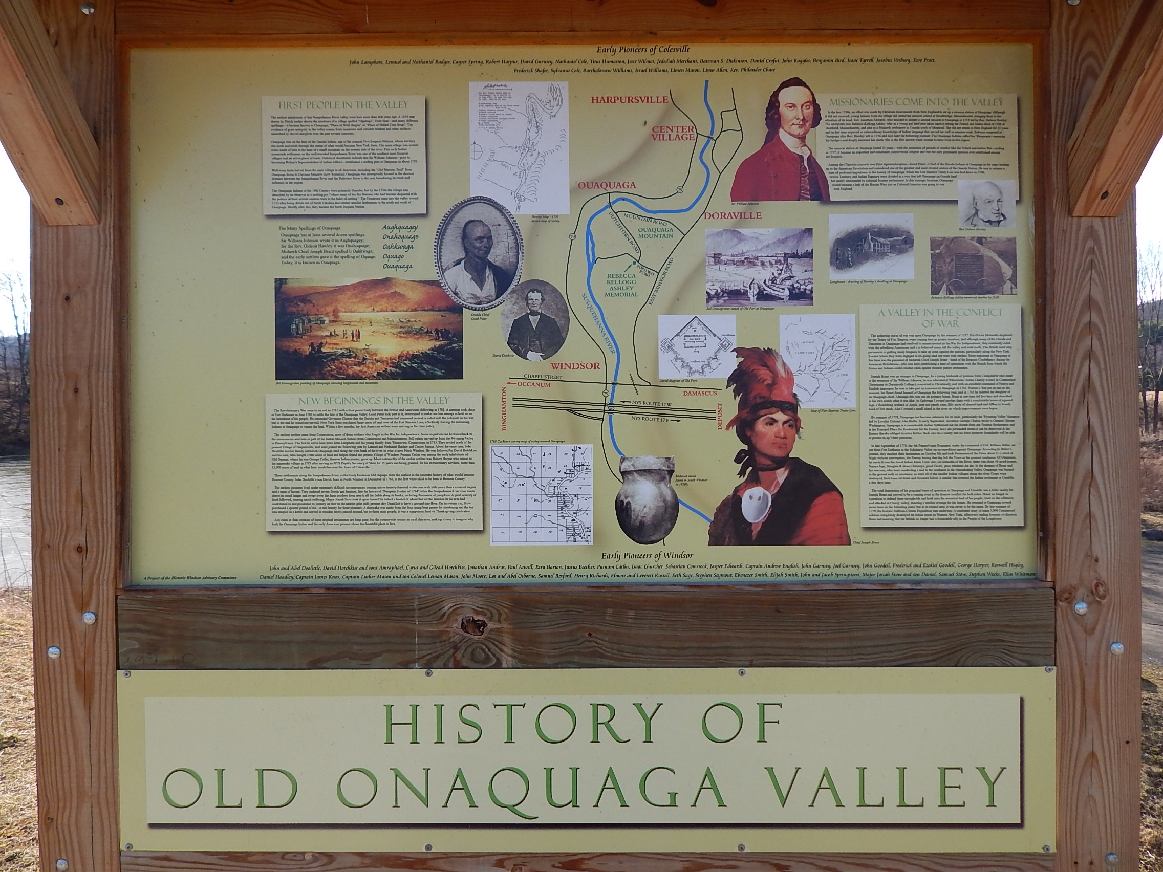 History of Old Onaquaga Valley Marker