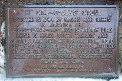 The Star Gazers' Stone Marker image. Click for full size.