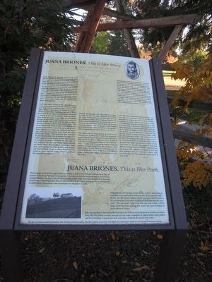 Juana Briones. <i>This is her park.</i> Marker image. Click for full size.