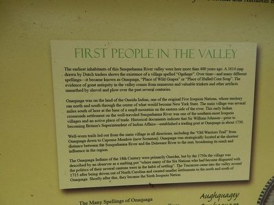 History of Old Onaquaga Valley Marker image. Click for full size.