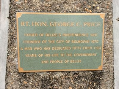 Rt. Hon. George C. Price Marker image. Click for full size.