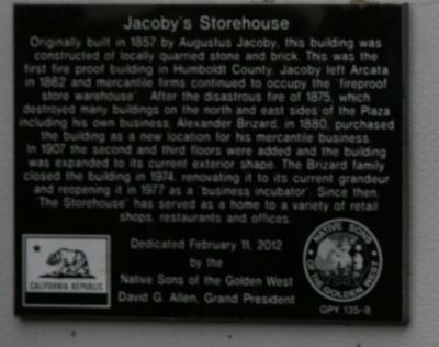 Jacoby's Storehouse Marker image. Click for full size.