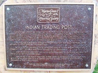 Indian Trading Post Marker image. Click for full size.