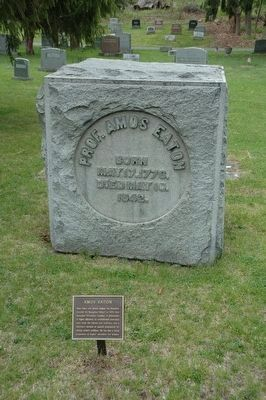 Amos Eaton Marker & Gravesite image. Click for full size.