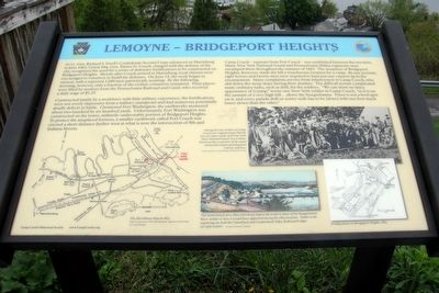 Lemoyne - Bridgeport Heights Marker image. Click for full size.