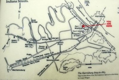 Insert - The Harrisburg area in 1863 image. Click for full size.