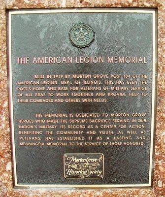 The American Legion Memorial Marker image. Click for full size.