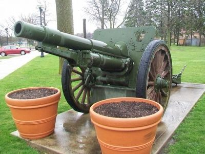 Field Gun on Display at the American Legion Memorial image. Click for full size.