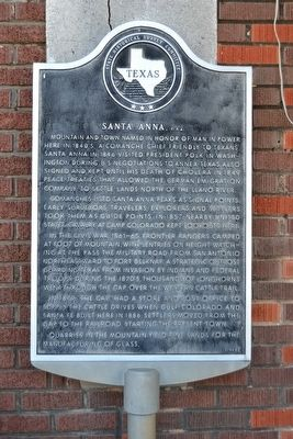 Santa Anna, C.S.A. Marker image. Click for full size.