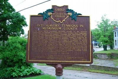 Anti-Slavery Tensions in Muskingum County Marker image. Click for full size.
