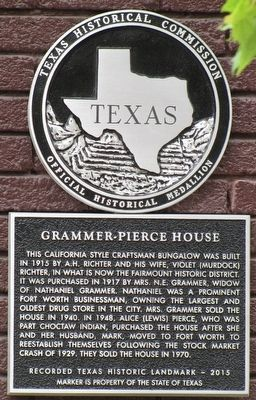 Grammer-Pierce House Texas Historical Marker Marker image. Click for full size.