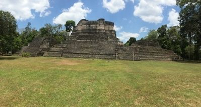 Structure A6 at Caracol, just north of the A Group Ballcourt image. Click for full size.