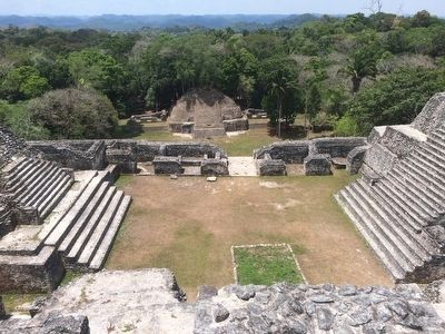 The view south from the top of Caana at Caracol's Group B image. Click for full size.
