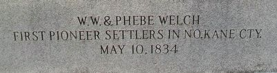 W. [William] W. & Phebe Welch Marker image. Click for full size.