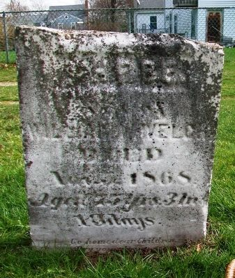 Phebe Welch Grave Marker image. Click for full size.