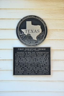 First Christian Church of Santa Anna Marker image. Click for full size.