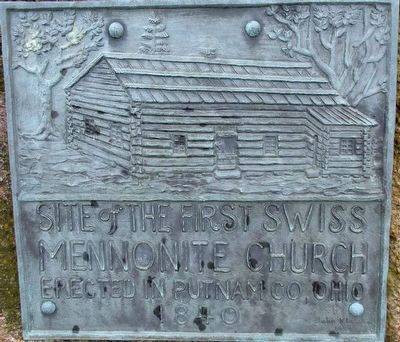 Site of the First Swiss Mennonite Church Marker image. Click for full size.