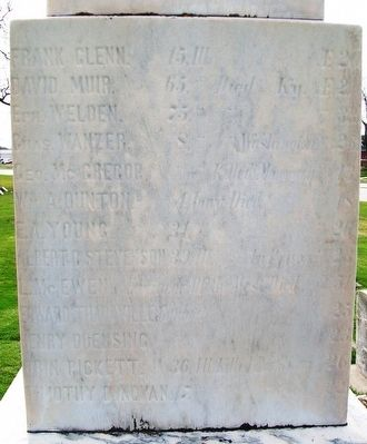 Civil War Memorial Honor Roll image. Click for full size.