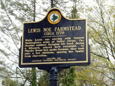 Lewis Noe Farmstead Marker image. Click for full size.