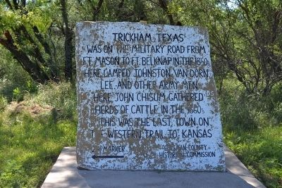 Trickham, Texas Marker image. Click for full size.
