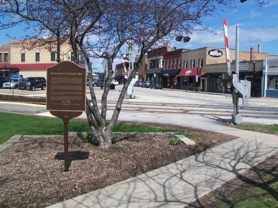 Downtown Crystal Lake Marker image. Click for full size.