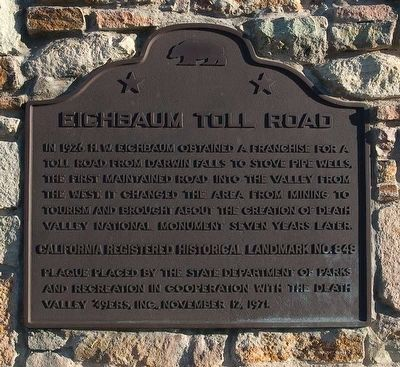 Eichbaum Toll Road Marker image. Click for full size.