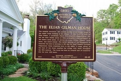 The Elias Gilman House Marker image. Click for full size.