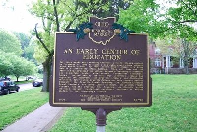 An Early Center of Education Marker image. Click for full size.