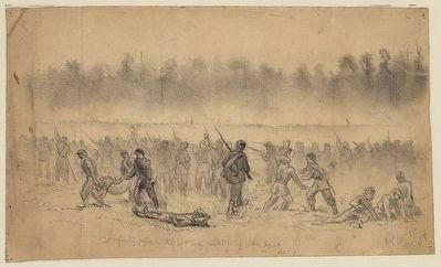 The battle of Groveton or Second Bull Run image. Click for full size.