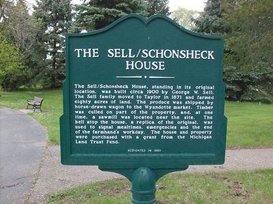 The Sell/Schonsheck House Marker image. Click for full size.