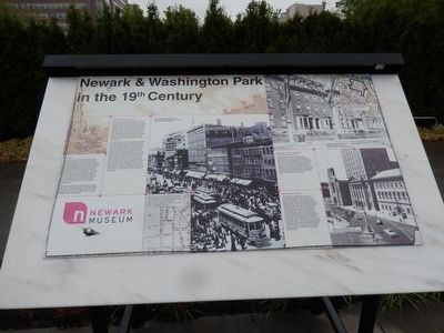 Newark & Washington Park in the 19th Century Marker image. Click for full size.