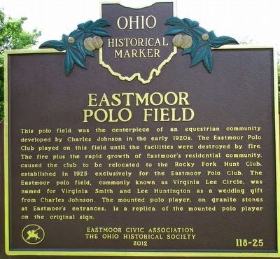 Eastmoor Polo Field Marker image. Click for full size.