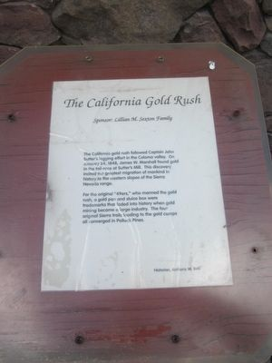The California Gold Rush Marker image. Click for full size.