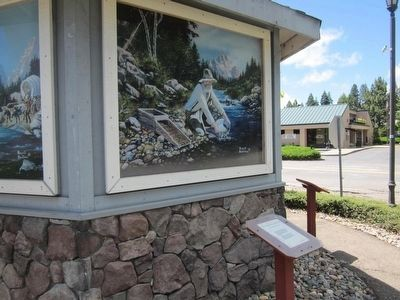 The California Gold Rush Marker and Painting Depicting the Event image. Click for full size.