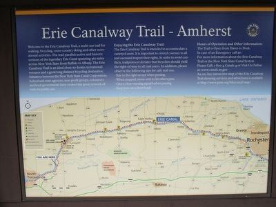 The Erie Canal at Amherst Marker image. Click for full size.
