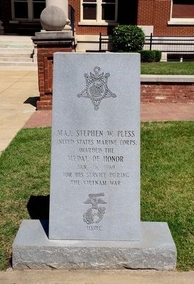 Maj. Stephen W. Pless Marker image. Click for full size.