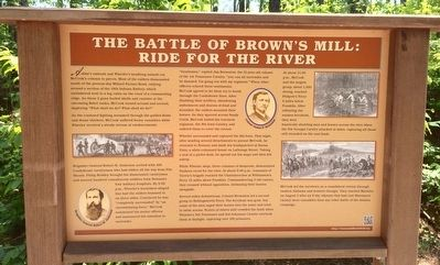 The Battle of Brown's Mill: Ride for the River Marker image. Click for full size.