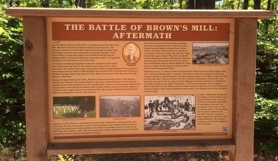 The Battle of Brown's Mill: Aftermath Marker image. Click for full size.