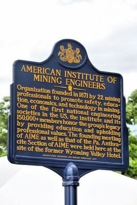 American Institute of Mining Engineers Marker image. Click for full size.