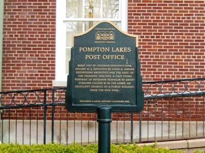 Pompton Lakes Post Office Marker image. Click for full size.