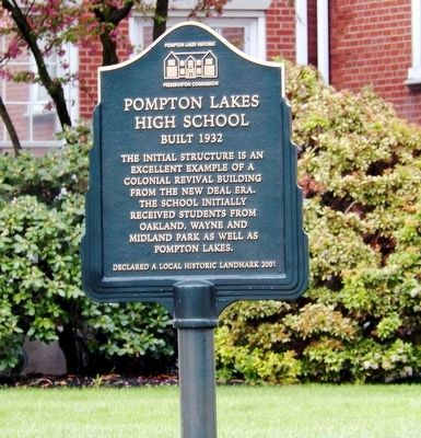 Pompton Lakes High School Marker image. Click for full size.