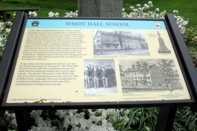 White Hall School Marker image. Click for full size.