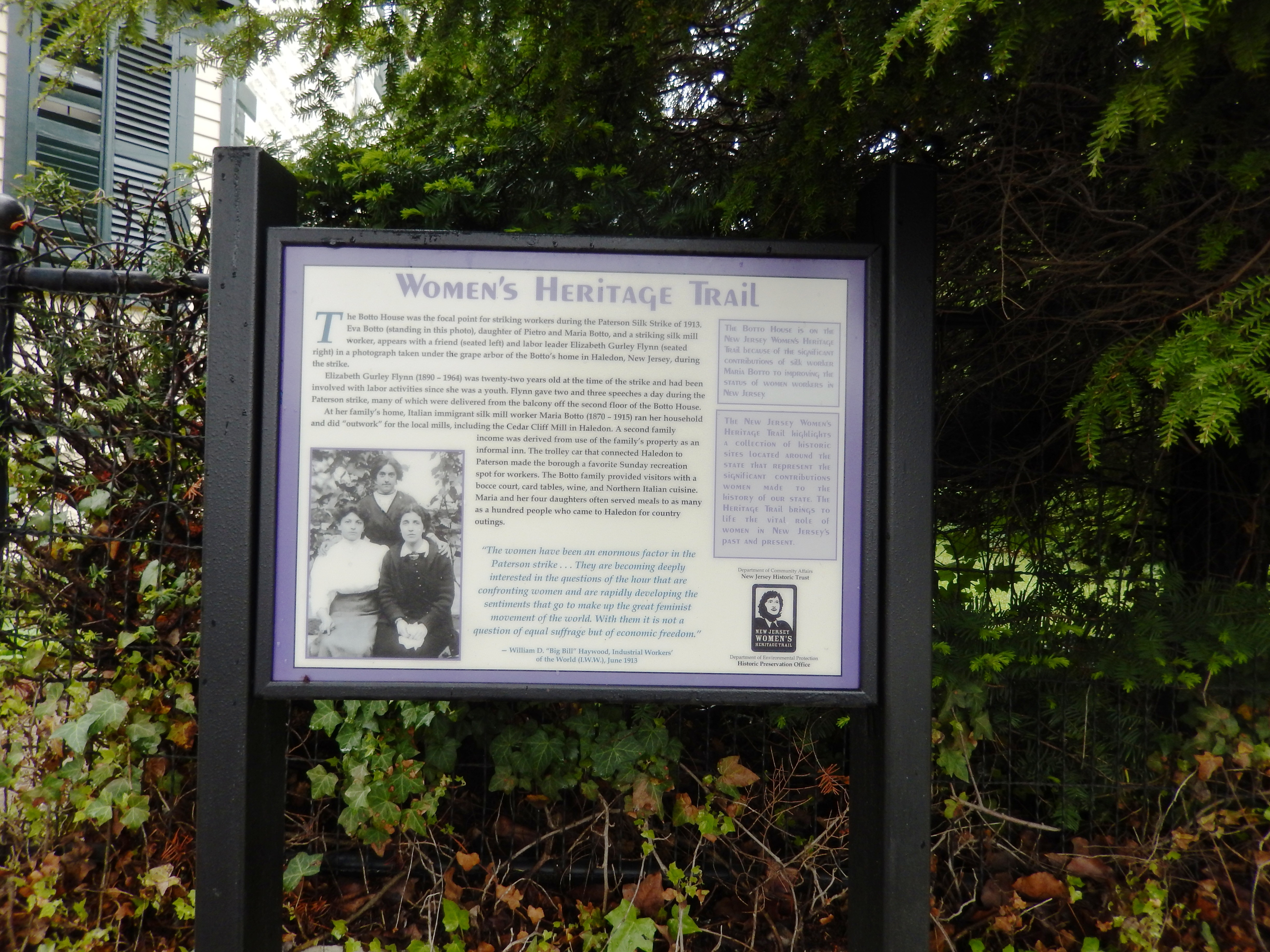 The Botto House Marker