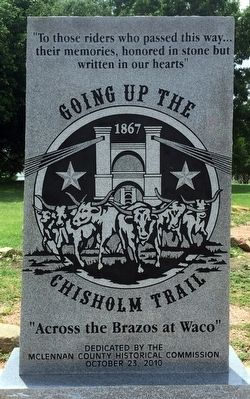 Going Up The Chisholm Trail Marker image. Click for full size.