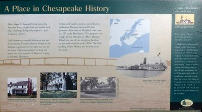 A Place in Chesapeake History Marker image. Click for full size.