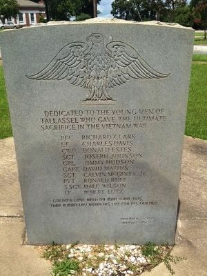 Tallassee Vietnam War Memorial image. Click for full size.