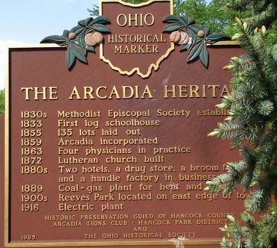 The Arcadia Heritage Marker image. Click for full size.