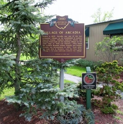 Village of Arcadia Marker image. Click for full size.