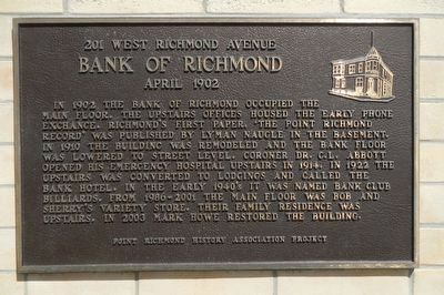 Bank of Richmond Marker image. Click for full size.