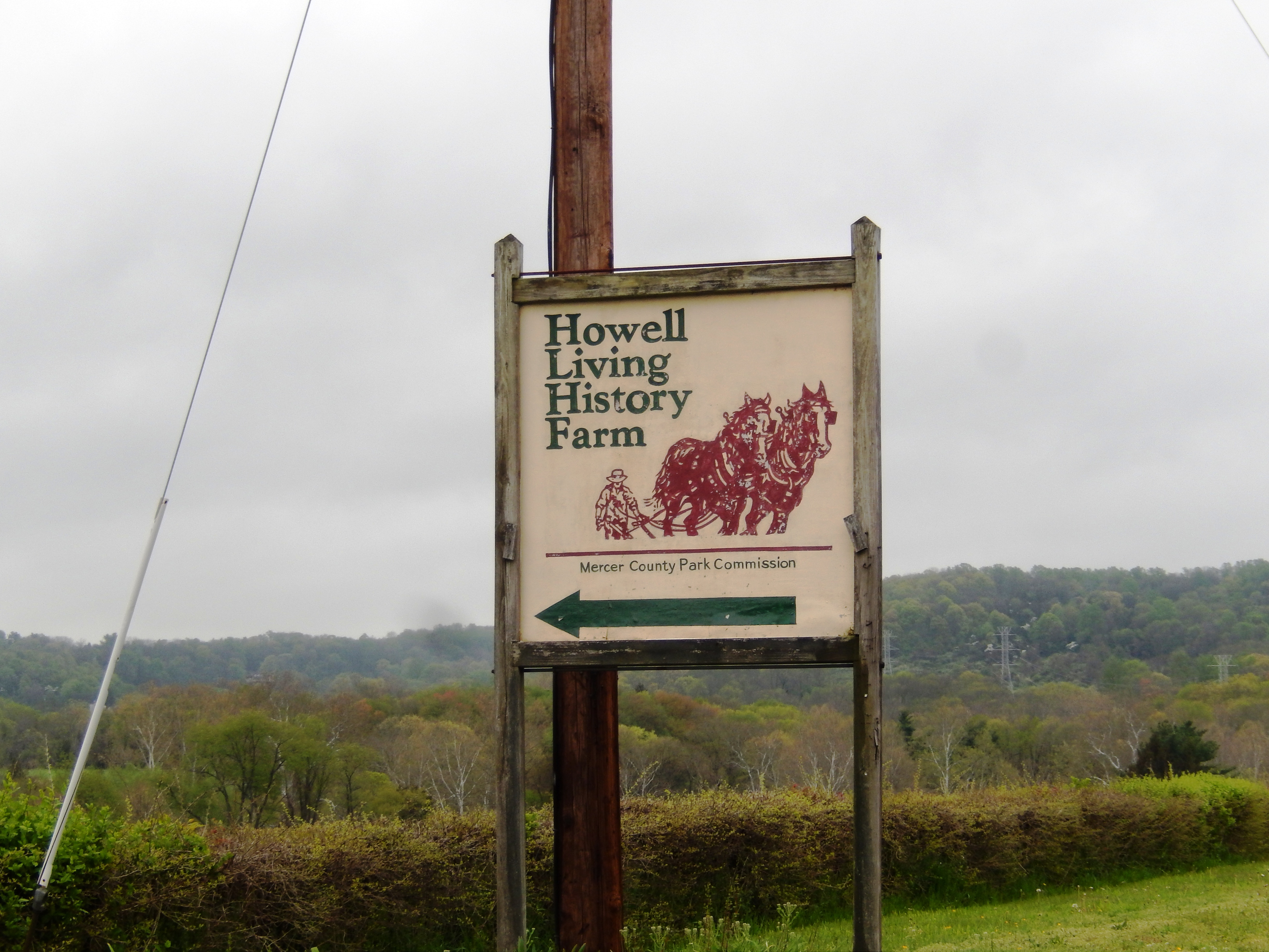 Sign at the entrance to Howell Living History Farm